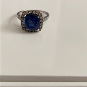 Man made sapphire ring